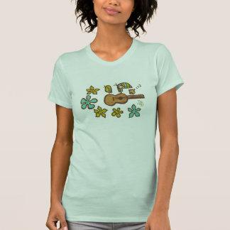 Camiseta Pássaros do Ukulele por Tiki tOny