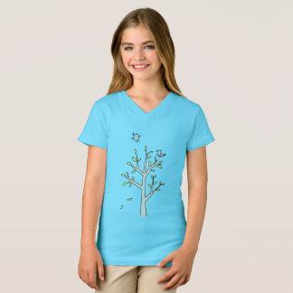 Camiseta Pássaros e árvore