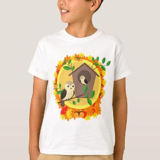 Camiseta Pássaros e Birdhouse no outono