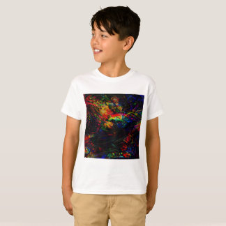 Camiseta Pássaros e borboletas abstratos