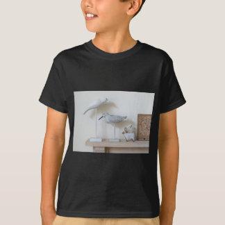 Camiseta Pássaros e carneiros de madeira do vidoeiro