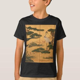 Camiseta Pássaros e flores das quatro estações