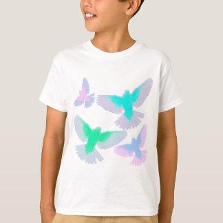 Camiseta Pássaros Pastel