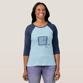 Camiseta Pássaros que voam, design do bloco de vidro do