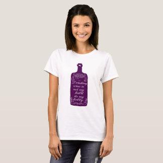 Camiseta Passatempo engraçado do vinho do bebendo