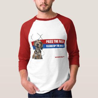 Camiseta Passe as contas/limpe os moinhos 3/4 de luva