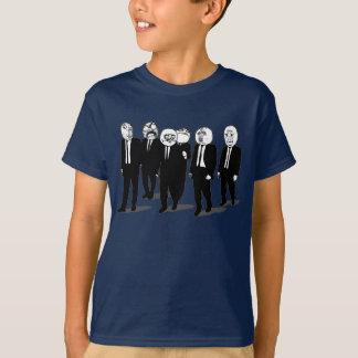 Camiseta passeio cómico das caras do meme da raiva