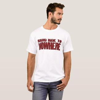 Camiseta Passeio duro ao t-shirt dos homens da nenhumaa