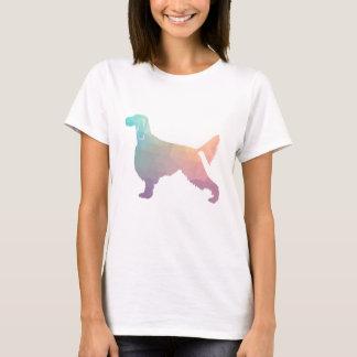 Camiseta Pastel geométrico da silhueta do teste padrão do