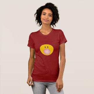 Camiseta Pastilha elástica de sopro da cara feliz