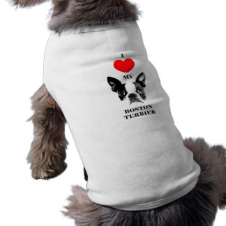 "Camiseta Pastor de cão ""j Boston love Terrier my """