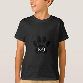 Camiseta Pata afligida Grunge K-9 do cão