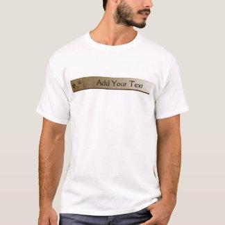 Camiseta Pata do cão dos melhores amigos e impressão da mão
