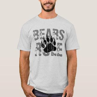 Camiseta Pata preta e de prata da regra dos ursos de urso