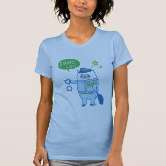 Camiseta Patas acima! Goma é T de Pawsome Pawlice