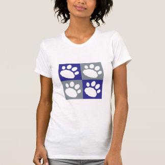 Camiseta Patas azuis e cinzentas do animal de estimação do