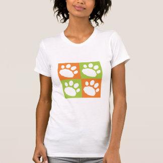 Camiseta Patas do animal de estimação do tabuleiro de damas