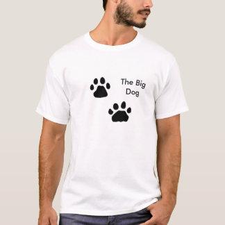 Camiseta Patas do cão, o cão grande