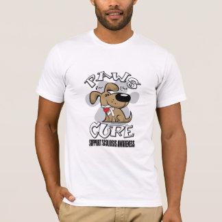 Camiseta Patas para a escoliose da cura
