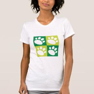 Camiseta Patas verdes do animal de estimação do tabuleiro