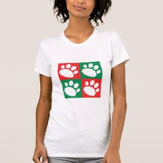 Camiseta Patas vermelhas e verdes do animal de estimação do