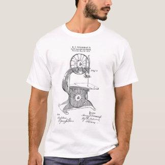 Camiseta Patente de 1876 E.U. para a serra de fita de Egan