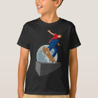 Camiseta patinador pixelated da lua