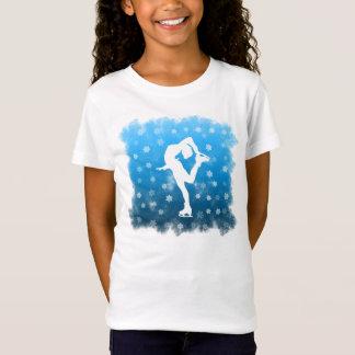 Camiseta Patinagem artística azul do inclinação na neve