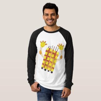 Camiseta Patinando sabão parte superior do Raglan de