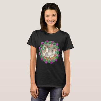 Camiseta Patinhos e flores