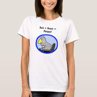 Camiseta Pato + Castor = Platypus!