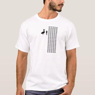 Camiseta pato Cavalo-feito sob medida contra 100 cavalos