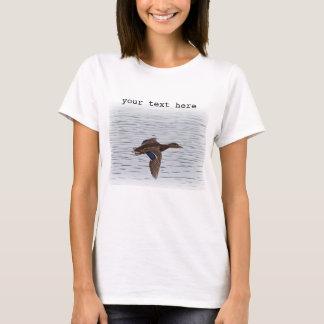 Camiseta Pato do pato selvagem em vôo