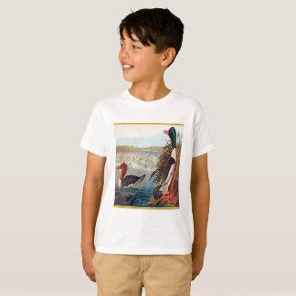Camiseta Patos americanos do pato selvagem em uma natação