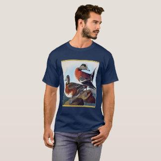Camiseta Patos do Widgeon americano em uma rocha