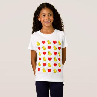 Camiseta Patos & t-shirt pequenos do coração