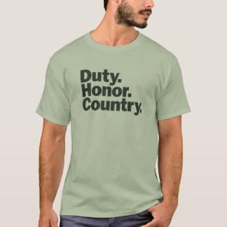 Camiseta Patriótico - dever. Honra. País