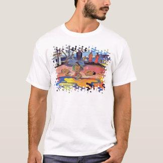 Camiseta Paul Gauguin - dia dos deuses - pintura das belas