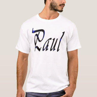 Camiseta Paul, nome, logotipo Cursive,