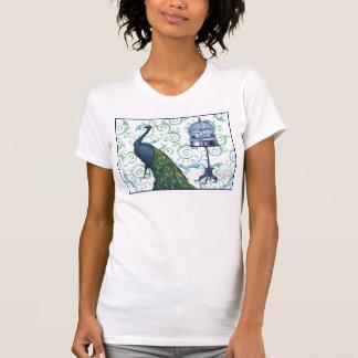 Camiseta Pavão & gaiola do vintage