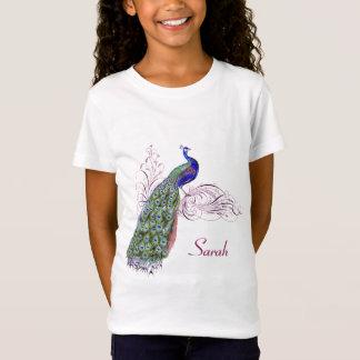 Camiseta Pavão personalizado do vintage