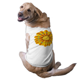 Camiseta Pavão tribal da flor do Gazania
