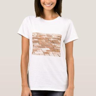 Camiseta Pavimento de azulejos marrons - vista ascendente