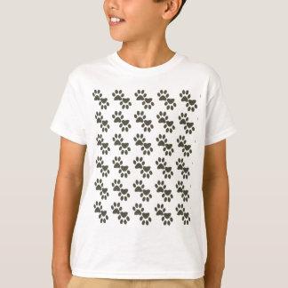 Camiseta Pawprints minúsculo