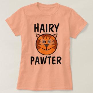 Camiseta Pawter peludo, t-shirt engraçados do gato &