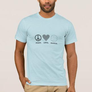 Camiseta Paz. Amor. Bagels.