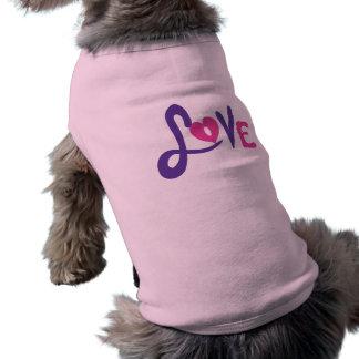Camiseta Paz, amor e filhotes de cachorro