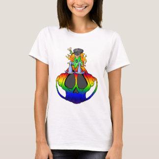 Camiseta Paz, amor e rocha & rolo