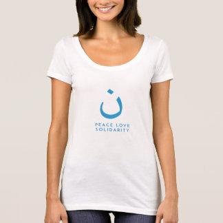 Camiseta Paz, amor e solidariedade
