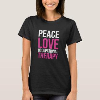 Camiseta Paz, amor, e T-s do positivo da terapia